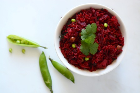 Beetroot Fried Rice 1