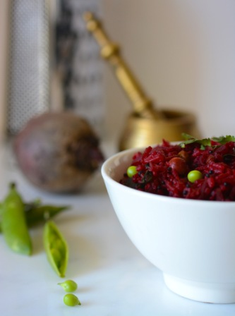 Beetroot Fried Rice 2