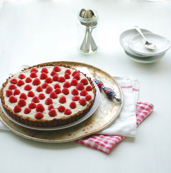 Rose raspberry tart 1