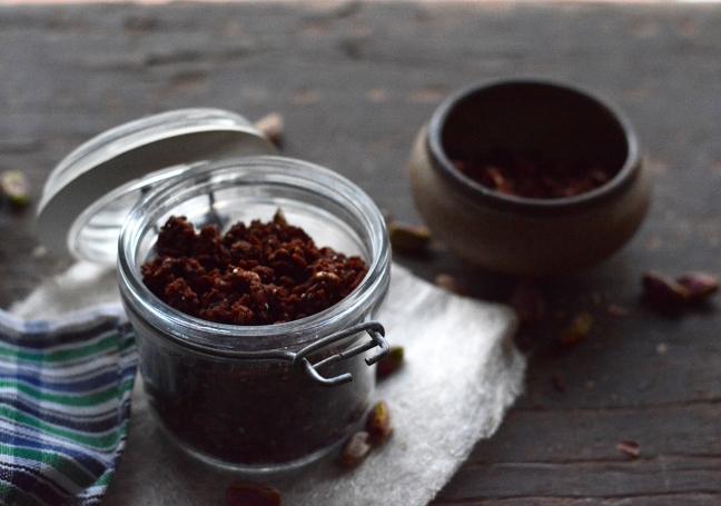 Choc Cranberry Pistachio Granola 4