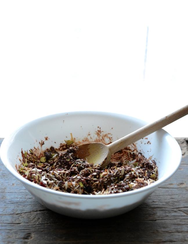 Choc Cranberry Pistachio Granola 6